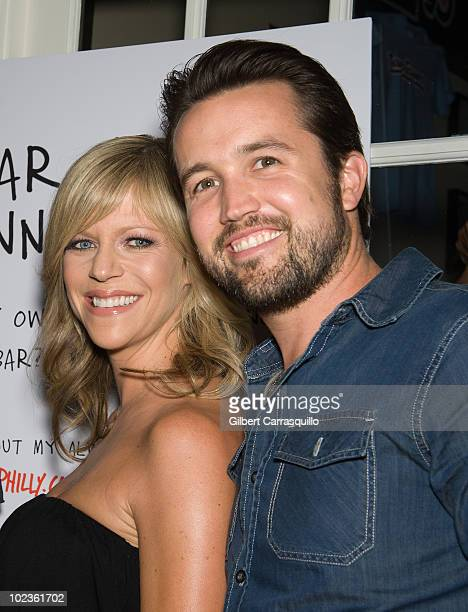 Actor Glenn Howerton actors/coowners of Mac's Tavern Kaitlin Olson and Rob McElhenney attend the opening of Mac's Tavern on June 23 2010 in...
