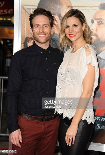 Actor Glenn Howerton and actress Jill Latiano attend the premiere of 'Fist Fight' at Regency Village Theatre on February 13 2017 in Westwood...