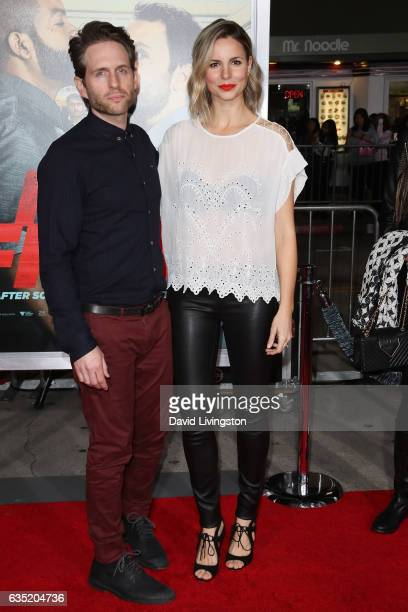 Actor Glenn Howerton and Jill Latiano attend the premiere of Warner Bros Pictures' 'Fist Fight' at Regency Village Theatre on February 13 2017 in...