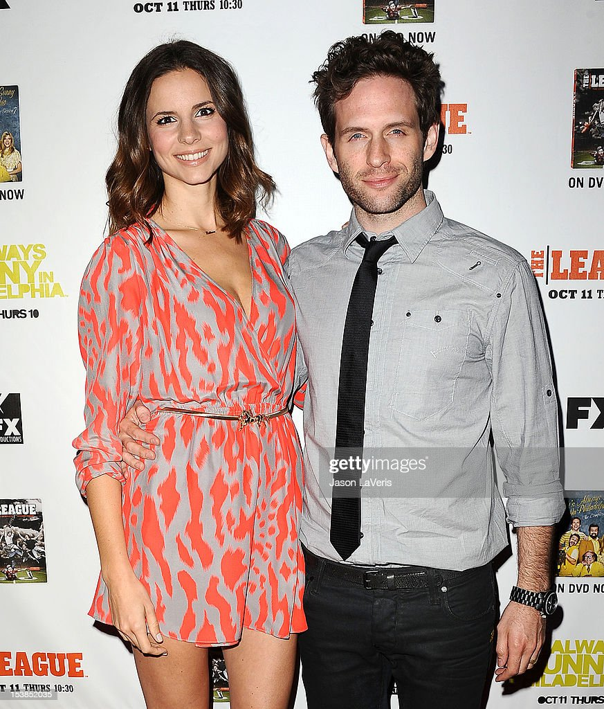 Actor Glenn Howerton (R) and wife Jill Latiano attend the FX season premiere screenings for 'It's Always Sunny In Philadelphia' and 'The League' at ArcLight Cinemas Cinerama Dome on October 9, 2012 in Hollywood, California.