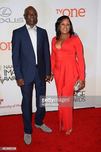 Actor Glynn Turman and JoAnn Allen attend the 46th NAACP Image Awards at the Pasadena Civic Auditorium in Pasadena California February 6 2015 AFP...