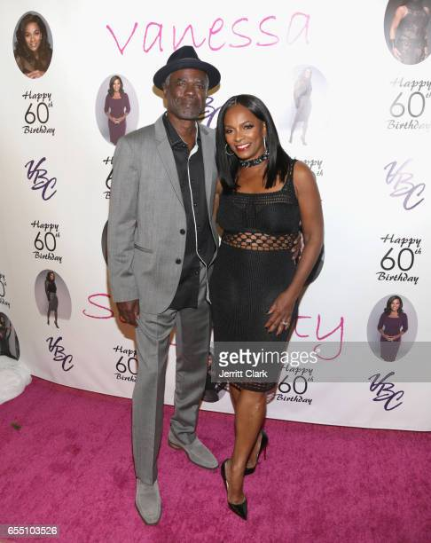 Actor Glynn Turman and Vanessa Bell Calloway attend Vanessa Bell Calloway's 60th Birthday Bash at Cicada on March 18 2017 in Los Angeles California