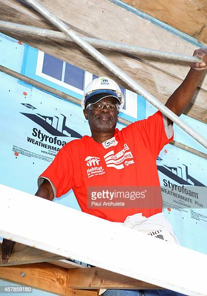Actor Glynn Turman helps build homes with 'Habitat For Humanity LA' on October 25 2014 in Lynwood California
