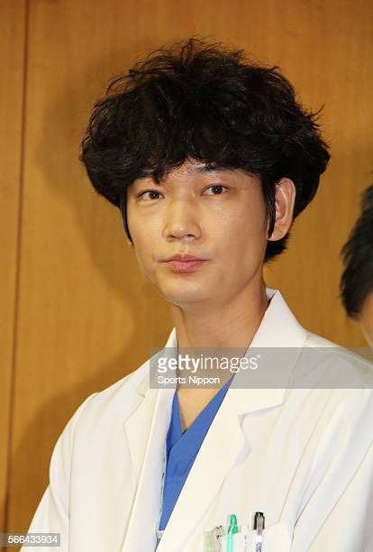 Actor Go Ayano attends the TBS program press conference on October 28 2015 in Tokyo Japan