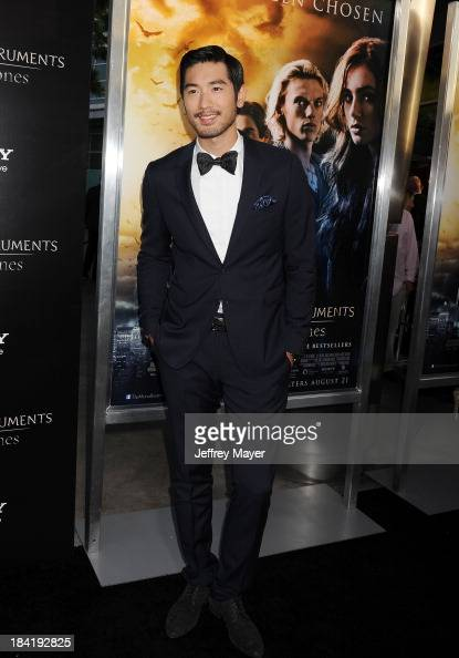 Actor Godfrey Gao arrives at the Los Angeles premiere of 'The Mortal Instruments City Of Bones' at ArcLight Cinemas Cinerama Dome on August 12 2013...