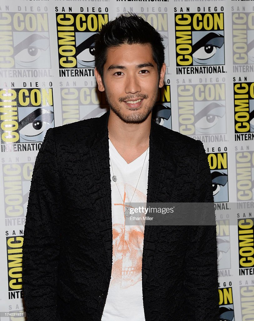 Actor Godfrey Gao attends 'The Mortal Instruments: City of Bones' press line during Comic-Con International 2013 at the Hilton San Diego Bayfront Hotel on July 19, 2013 in San Diego, California.