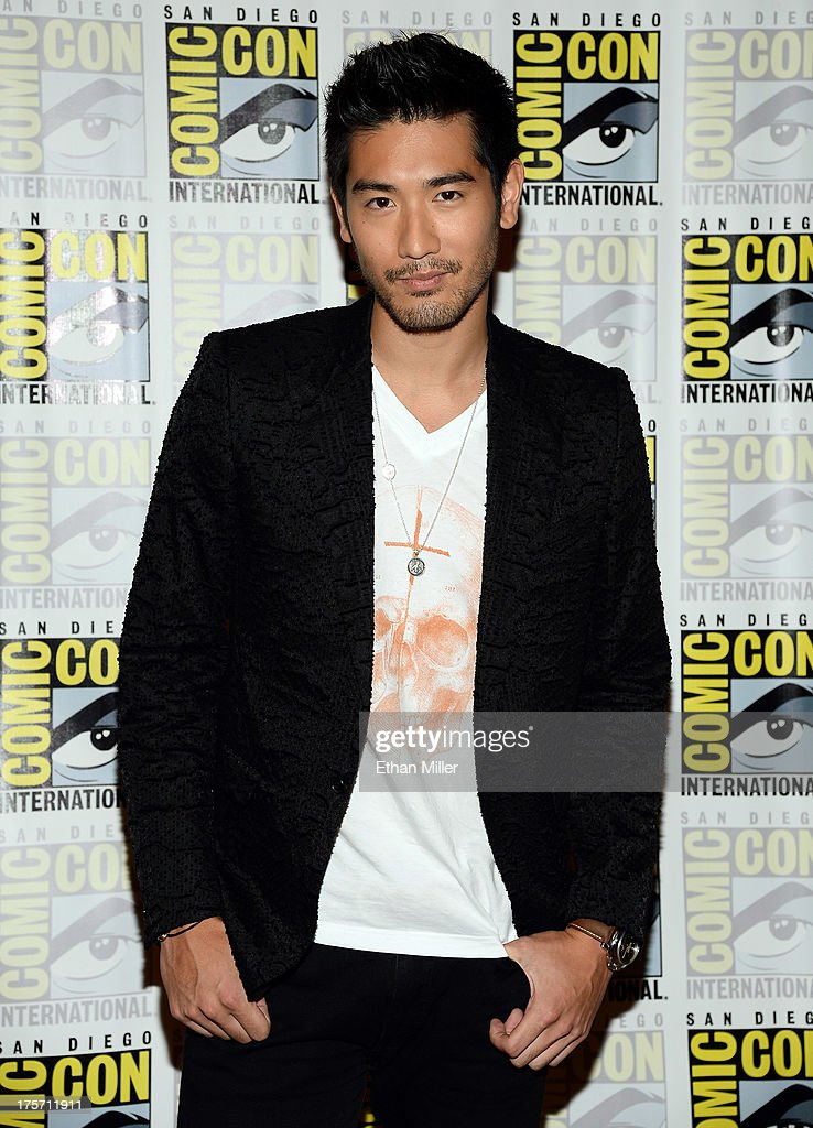 Actor Godfrey Gao attends 'The Mortal Instruments: City of Bones' press line at the Hilton San Diego Bayfront Hotel on July 19, 2013 in San Diego, California.
