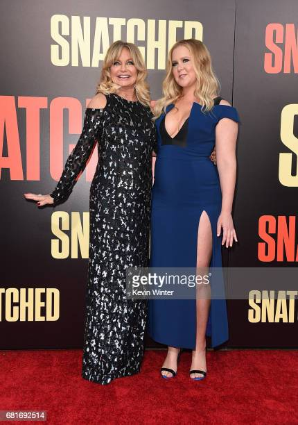 Actor Goldie Hawn and actor/executive producer Amy Schumer attend the premiere of 20th Century Fox's 'Snatched' at Regency Village Theatre on May 10...