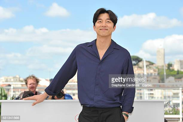 Actor Gong Yoo attends the 'Train To Busan ' photocall during the 69th Annual Cannes Film Festival on May 14 2016 in Cannes France
