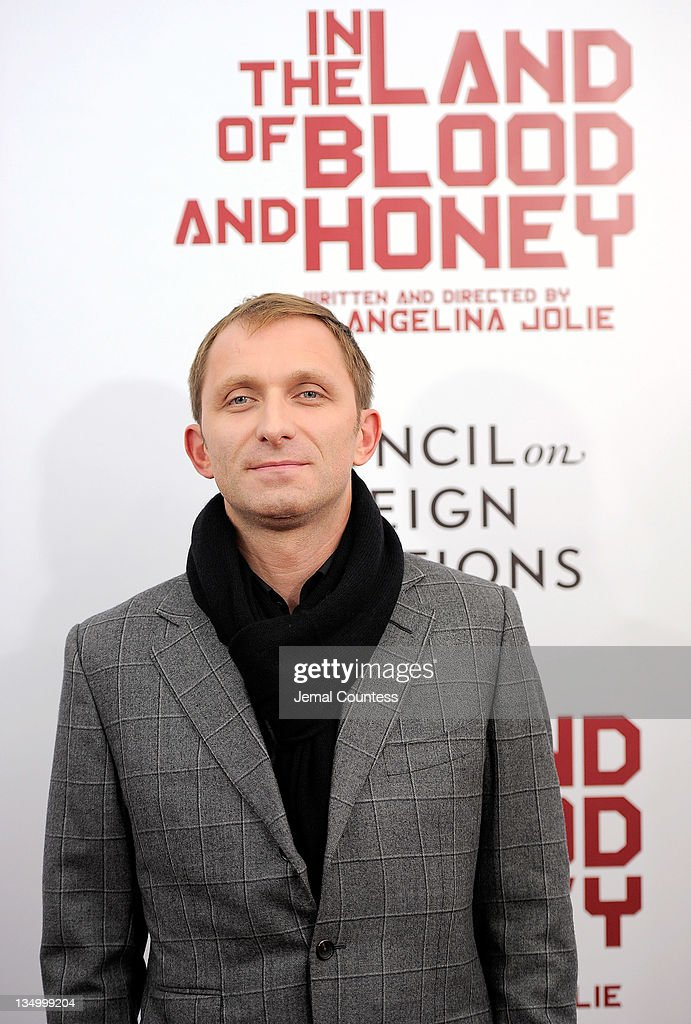 Actor Goran Kostic poses for a photo during the premiere of 'In the Land of Blood and Honey' at the School of Visual Arts on December 5, 2011 in New York City.