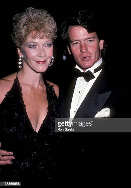 Actor Gordon Thomson and actress Linda Thorson attending 'Gala Tribute Honoring Aaron Spelling' on October 20 1985 at the Beverly Hilton Hotel in...
