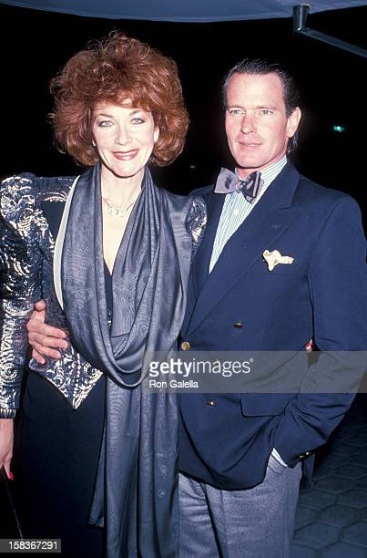 Actor Gordon Thomson and actress Linda Thorson attending 'Good Morning Britian' on January 26 1989 at St James Club in Century City California