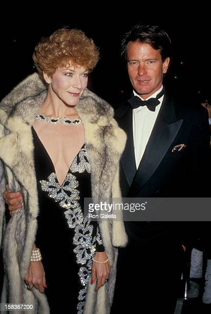 Actor Gordon Thomson and actress Linda Thorson attending 'Variety Club International AllStar Party' on November 22 1987 at NBC TV Studios in Burbank...