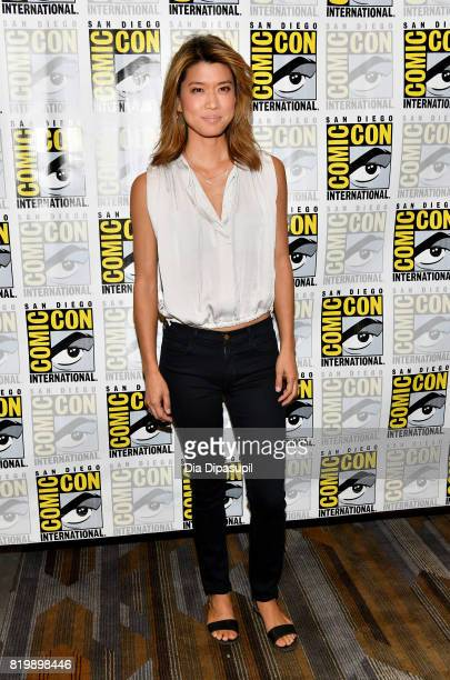 Actor Grace Park at the 'Battlestar Galactica' Reunion press line during ComicCon International 2017 at Hilton Bayfront on July 20 2017 in San Diego...