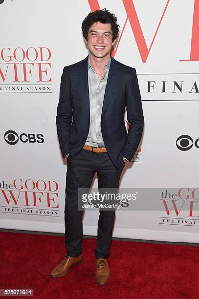 Actor Graham Phillips attends 'The Good Wife' Finale Party at Museum of Modern Art on April 28 2016 in New York City