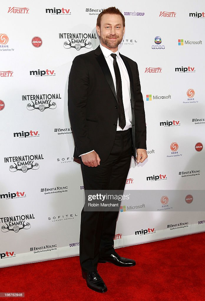 Actor Grant Bowler attends the 40th International Emmy Awards on November 19, 2012 in New York City.