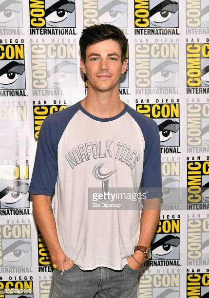 Actor Grant Gustin at 'The Flash' Press Line during ComicCon International 2017 at Hilton Bayfront on July 22 2017 in San Diego California