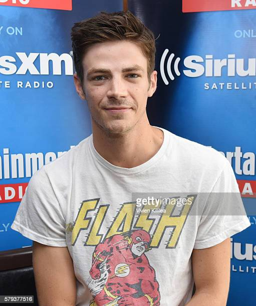 Actor Grant Gustin attends SiriusXM's Entertainment Weekly Radio Channel Broadcasts From ComicCon 2016 at Hard Rock Hotel San Diego on July 22 2016...