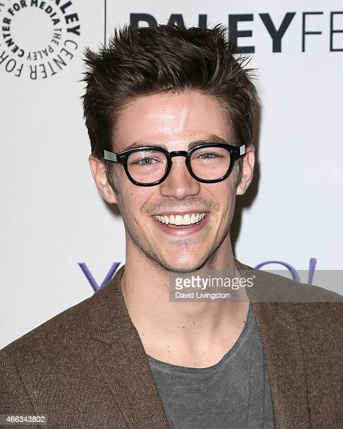 Actor Grant Gustin attends the 'Arrow' 'The Flash' event at The Paley Center For Media's 32nd Annual PALEYFEST LA at the Dolby Theatre on March 14...