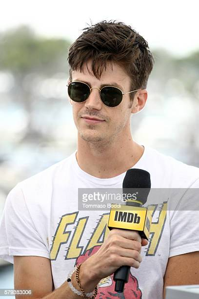 Actor Grant Gustin attends the IMDb Yacht at San Diego ComicCon 2016 Day Three at The IMDb Yacht on July 23 2016 in San Diego California