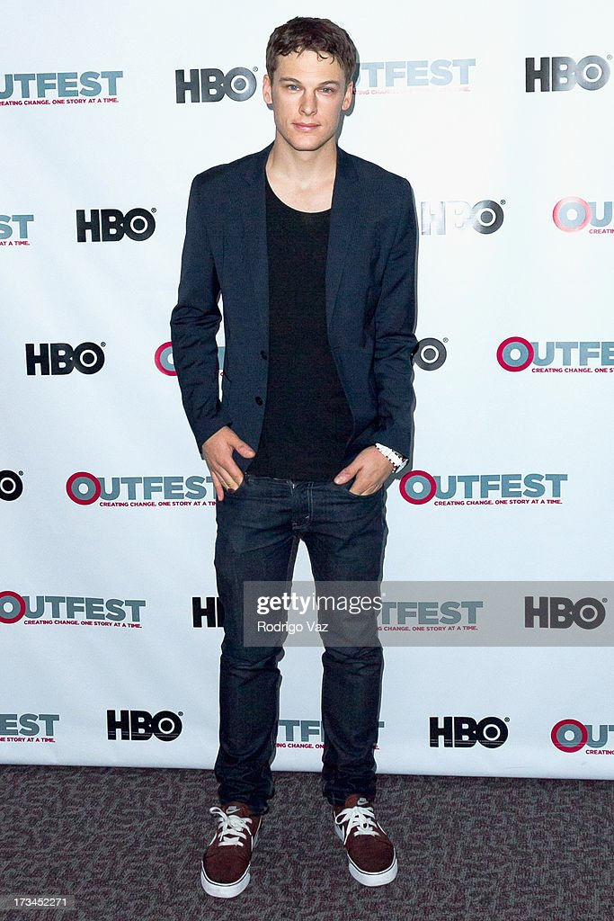 Actor Grant Harvey arrives at the 2013 Outfest Film Festival - 'Geography Club' screening at Directors Guild Of America on July 14, 2013 in Los Angeles, California.