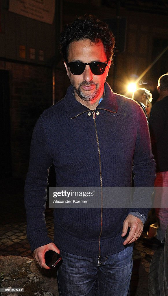 Actor <a gi-track='captionPersonalityLinkClicked' href=/galleries/search?phrase=Grant+Heslov&family=editorial&specificpeople=607201 ng-click='$event.stopPropagation()'>Grant Heslov</a> is seen leaving a restaurant on May 06, 2013 in Wernigerode, Germany. He celebrated the 52nd birthday of actor George Clooney. Clooney currently shoots his film 'The Monuments Men' on several locations in the state of Lower Saxony and around Germany.