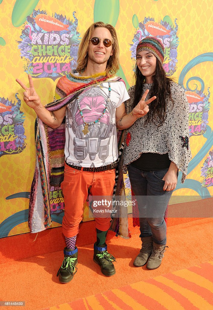 Actor <a gi-track='captionPersonalityLinkClicked' href=/galleries/search?phrase=Greg+Cipes&family=editorial&specificpeople=4376355 ng-click='$event.stopPropagation()'>Greg Cipes</a> and guest attend Nickelodeon's 27th Annual Kids' Choice Awards held at USC Galen Center on March 29, 2014 in Los Angeles, California.