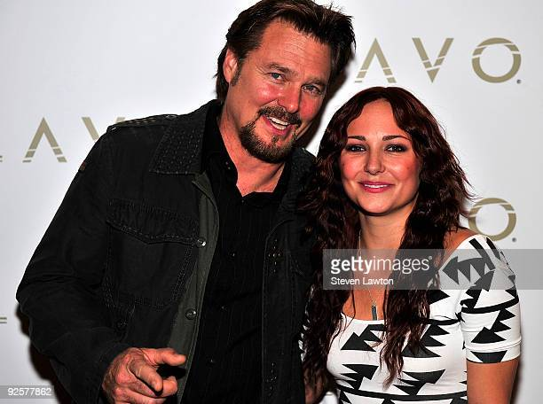 Actor Greg Evigan and Briana Evigan arrive to celebrate Brana Evigan's birthday at Lavo Restaurant Nightclub at The Palazzo on October 30 2009 in Las...