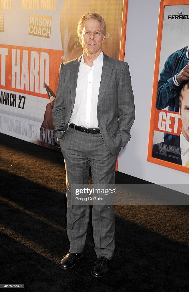 Actor Greg Germann arrives at the Los Angeles premiere of 'Get Hard' at TCL Chinese Theatre IMAX on March 25, 2015 in Hollywood, California.