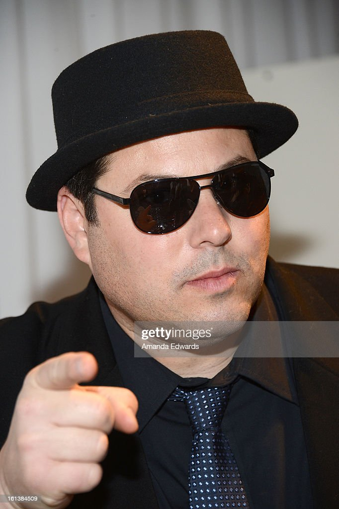 Actor <a gi-track='captionPersonalityLinkClicked' href=/galleries/search?phrase=Greg+Grunberg&family=editorial&specificpeople=561118 ng-click='$event.stopPropagation()'>Greg Grunberg</a> in Hugo Boss 0542PS sunglasses poses with SOLSTICE Sunglasses and Safilo USA during the 55th Annual GRAMMY Awards at the STAPLES Center on February 9, 2013 in Los Angeles, California.