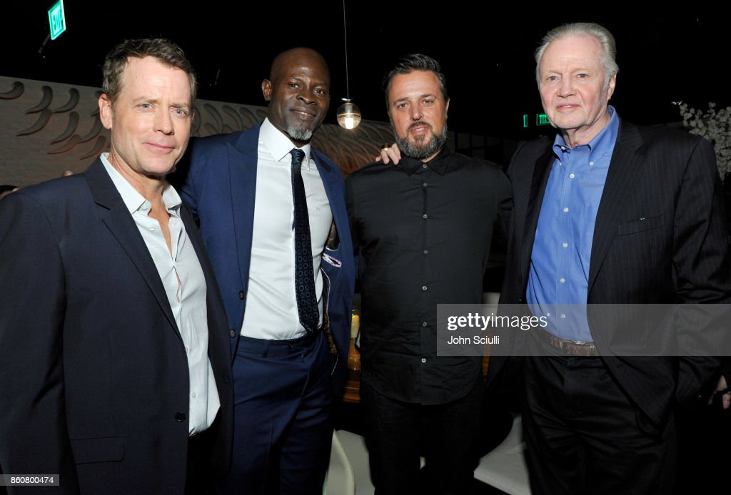 Actor Greg Kinnear, Actor Djimon Hounsou, Director Michael Carney and Actor Jon Voight attend Same Kind Of Different As Me Premiere on October 12, 2017 in Los Angeles, California.