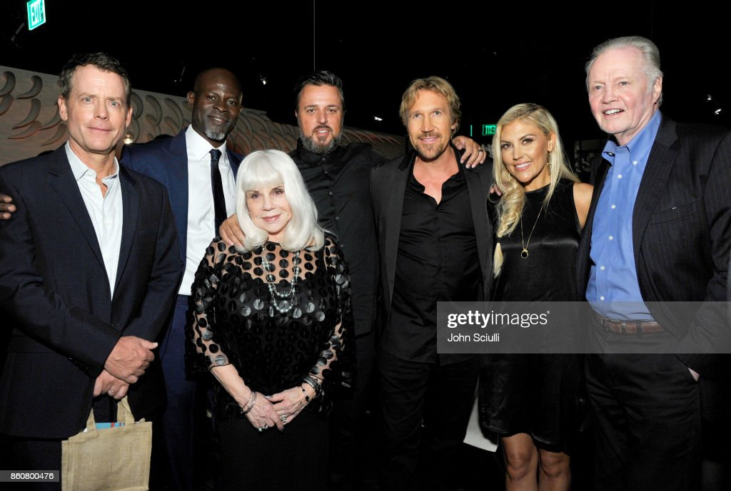 Actor Greg Kinnear, Actor Djimon Hounsou, Liz Travis,Director Michael Carney, Pure Flix Founder David A.R. White, Andrea Logan White and Actor Jon Voight attend Same Kind Of Different As Me Premiere on October 12, 2017 in Los Angeles, California.