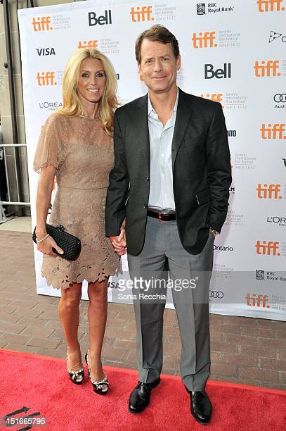 Actor Greg Kinnear and Helen Labdon arrive at the 'Writers' Premiere at the 2012 Toronto International Film Festival at the Ryerson Theatre on...