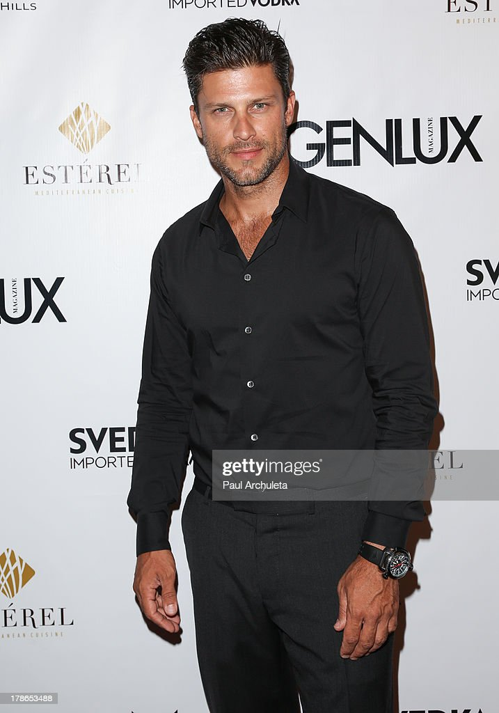 Actor Greg Vaugha attends the Genlux Magazine release party at Sofitel Hotel on August 29, 2013 in Los Angeles, California.
