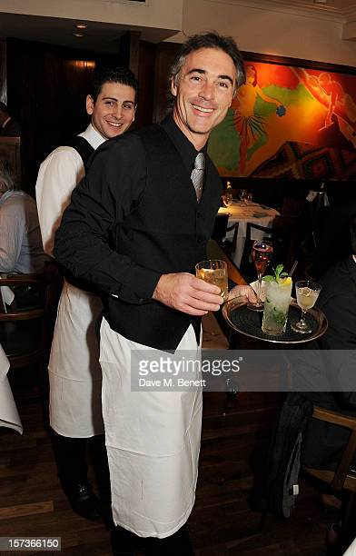 Actor Greg Wise working as a waiter attends One Night Only at The Ivy featuring 30 stage and screen actors working as staff during dinner at The Ivy...