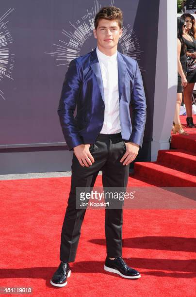 Actor Gregg Sulkin arrives at the 2014 MTV Video Music Awards at The Forum on August 24 2014 in Inglewood California