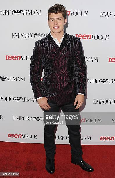 Actor Gregg Sulkin arrives at the Teen Vogue Young Hollywood Party on September 26 2014 in Los Angeles California