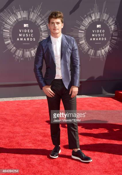 Actor Gregg Sulkin attends the 2014 MTV Video Music Awards at The Forum on August 24 2014 in Inglewood California