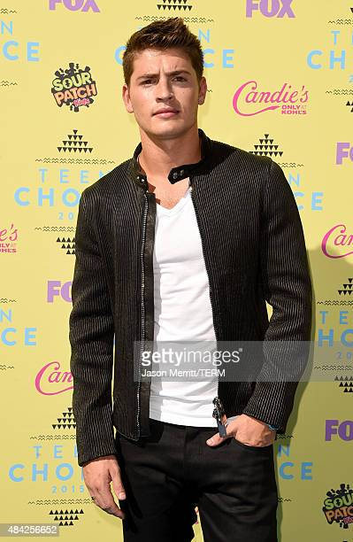 Actor Gregg Sulkin attends the Teen Choice Awards 2015 at the USC Galen Center on August 16 2015 in Los Angeles California
