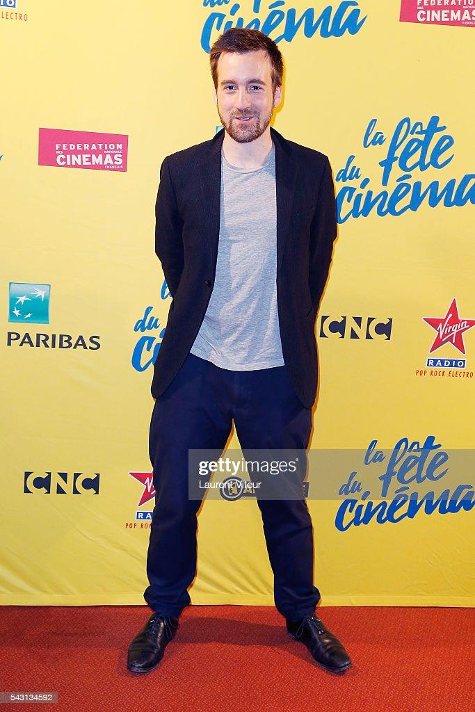Actor Gregoire-Leprince Ringuet attends the 32nd 'Fete du Cinema' launch at UGC Cine Cite Bercy on June 26, 2016 in Paris, France.