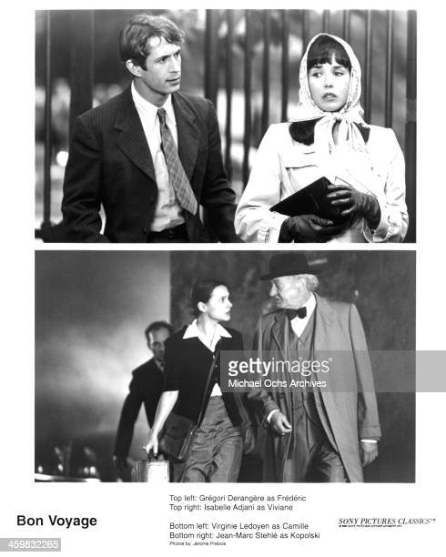 Actor Gregori Derangere and actress Isabelle Adjani actress Virginie Ledoyen and actor JeanMarc Stehle on the set of the Sony Pictures Classic movie...