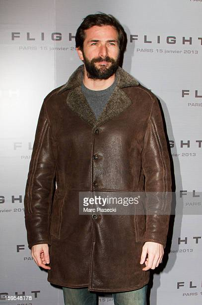 Actor Gregory Fitoussi attends the 'Flight' Paris Premiere at Cinema Gaumont Marignan on January 15 2013 in Paris France