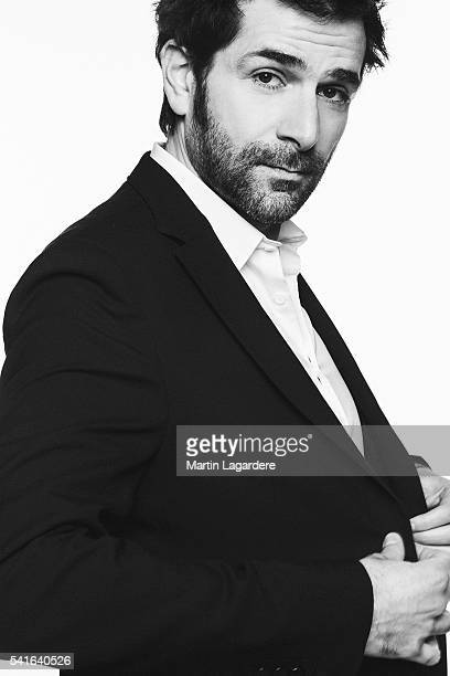 Actor Gregory Fitoussi is photographed for Self Assignment on February 2 2016 in Paris France