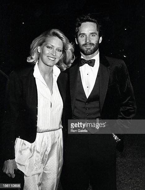 Actor Gregory Harrison and wife Randi Oakes attending 'Los Angeles Drama Critics Circle Awards Dinner' on March 27 1983 at USC Town and Gown in Los...