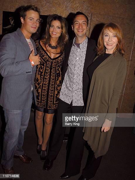Actor Gregory Michael actress Tracy Scoggins Here Network founder Paul Colichman and actress Cassandra Peterson attend the 'Dante's Cove' Season...