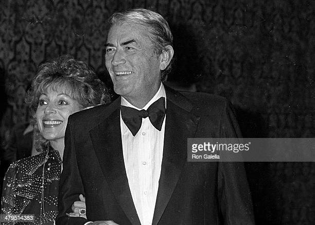 Actor Gregory Peck and wife Veronique attend the 53rd Annual Variety Clubs International Convention Closing Night Variety Clubs International's...
