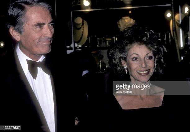 Actor Gregory Peck and wife Veronique Peck attend A Gala Evening in Monaco to Benefit the Dubnoff Center for Child Development on April 24 1981 at...
