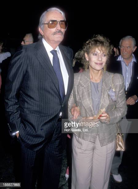 Actor Gregory Peck and wife Veronique Peck attend Milton Berle's 80th Birthday Party on July 12 1988 at La Cage aux Folles in West Hollywood...