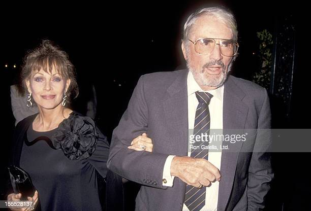 Actor Gregory Peck and wife Veronique Peck attend the 17th Wedding Anniversary for Frank Sinatra and Barbara Marx on July 10 1993 at Chasen's...