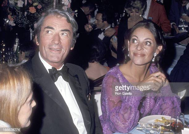 Actor Gregory Peck and wife Veronique Peck attend the 43rd Annual Academy Awards Governo's Ball on April 15 1971 at Beverly Hilton Hotel in Beverly...